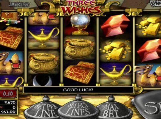 Os desejos tornam-se realidade nos jogos de slots Three Wishes